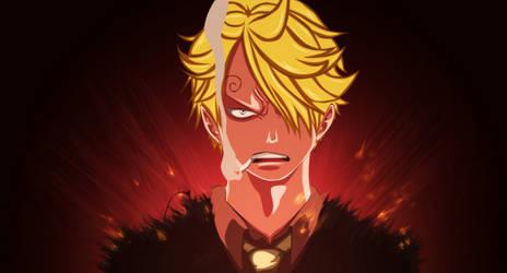One Piece - Sanji angry by TaKa-No-Mi