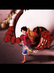 One Piece - Luffy and Brownbeard 'speed painting' by TaKa-No-Mi