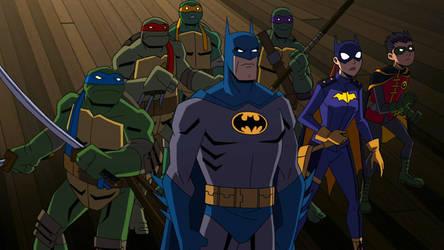 Batman Vs. Tmnt Group Official First Look by BatmanMoumen