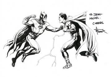 Batman vs Shazam by Gary Frank by BatmanMoumen