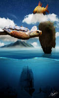 Flying Turtle, Diving Ship by DVerissimo