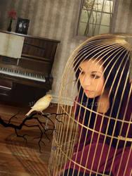 caged canary. by stickbugs