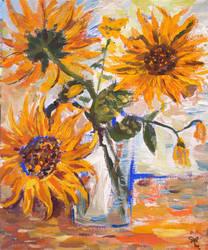 Sunflowers by lemmeng