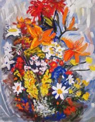 Bouquet of flowers by lemmeng