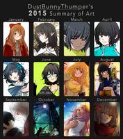 2015 Summary of Art by DustBunnyThumper