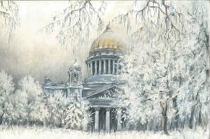 Freezing day in Saint Petersburg by maxalimetov