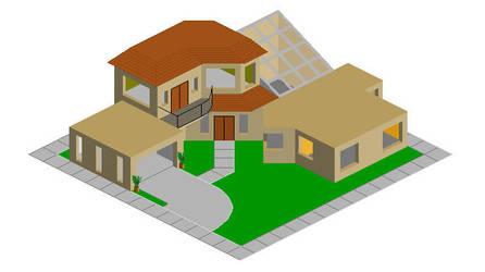 Pixel House by Ryuu-Takeshi