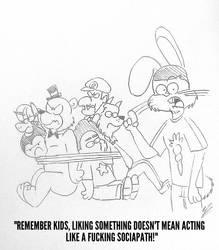 The Rabbit Hole #57 by RockyToonzComics