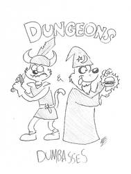 Fish and Chip Dungeons and Dumbasses Pinup by RockyToonzComics