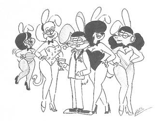 Rocky and his gals Pinup by RockyToonzComics