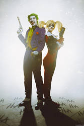 Joker and Harley Quinn by shimyrk