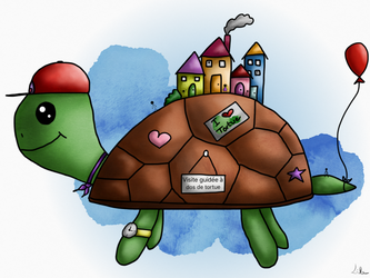 the tourist turtle by Lilanuts