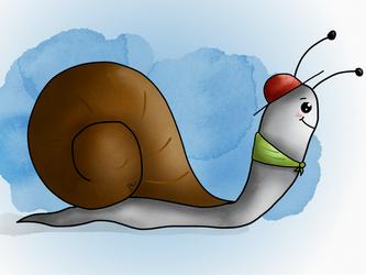 Bob the snail by Lilanuts