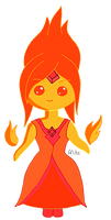 Adventure Time - Flame Princess Chibi v1 by Matchstar