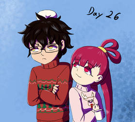 OTP challenge- Day 26- In ugly Christmas sweaters by Ukemi-Kmicic