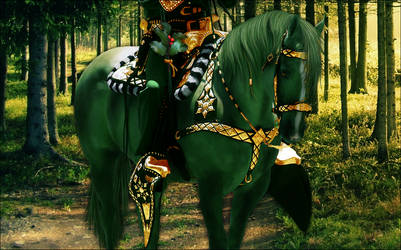 The Modern Day Green Knight by feralsong