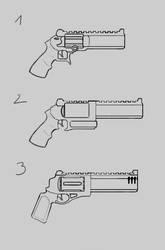 Revolver Sketches 3 by nerdwerk