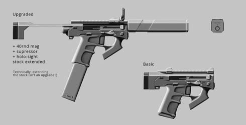 Machine Pistol WIP by nerdwerk