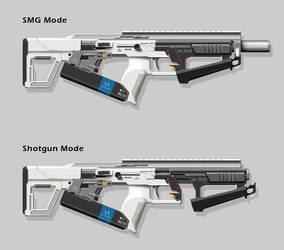 Experimental Riot-Control Weapon by nerdwerk