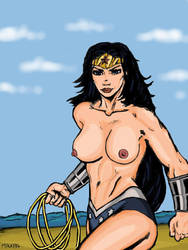 Wonder Woman Topless - Color version by maxpa27