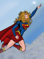 Supergirl Flying  by maxpa27