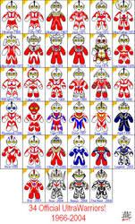 Ultraman: Official Lineup. by tsubame-yin