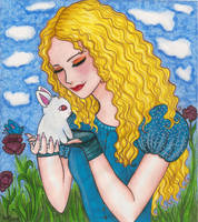 Alice and the Bunny by Lorelei2323