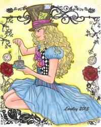 Tea Time_ colored version by Lorelei2323