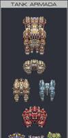 Tank Armada by iSohei