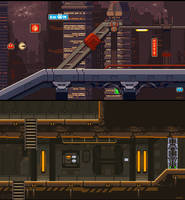 Night City and Army Base level mockup by iSohei