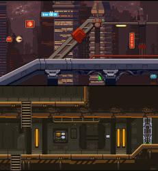 Night City and Army Base level mockup by iSohei
