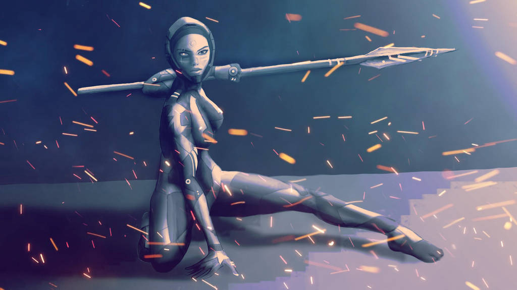 Cyber Amazon by AymQi