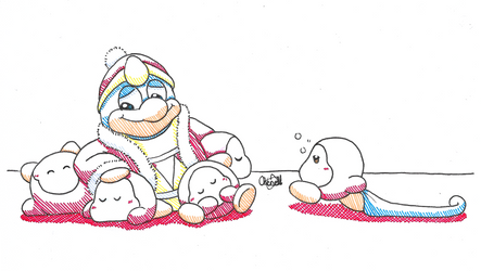 Inktober 2018 Day 29 - Dedede and His Dees by Chenanigans