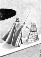 Dalek vs Vader by killddianette