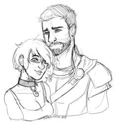 Bust Sketch Couple by FiendsTooth