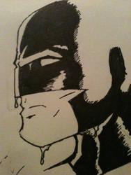 Rainy Batman by carrett
