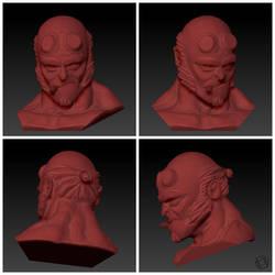 Hellboy Baby by carrett