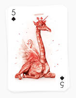 Playing Arts - 5 of Spades by visio-art