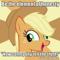 Applejack meme by FluttershyElsa