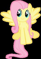 Smiling Fluttershy vector by FluttershyElsa