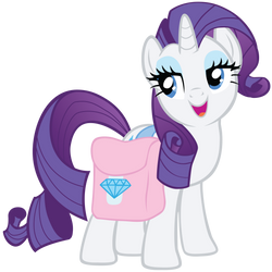 Rarity w/ diamond-saddlebag vector by FluttershyElsa