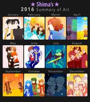 2016 Art Summary by StarlightCandy