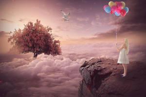 Top of the world Fantasy photomanipulation by mariika2014