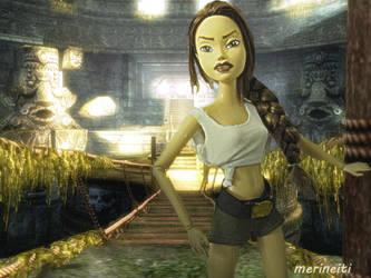 Custom My Scene Barbie doll repaint - Lara Croft by merineiti