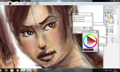 Digital painting WIP - learning by merineiti