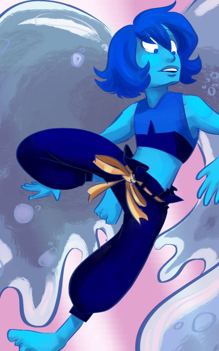 The Steven Universe special was pretty great, but I mostly came away from it with the burning desire to draw Lapis in her new pants, and by God, I did it