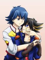 Bruno and Yusei by Kuwano73