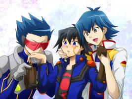 W-Bruno and Yuusei by Kuwano73
