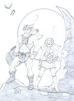 He-Man and She-Ra by forestmoon