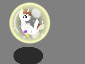 Light floating in his magic bubble by flashsparklee